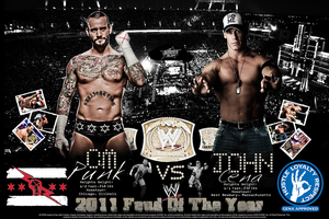 CM Punk Vs John Cena - 2011 Feud Of The Year by SoulRiderGFX