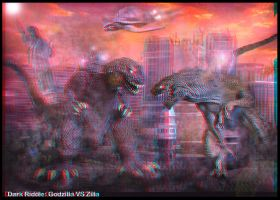 3D Godzilla VS Zilla by darkriddle1