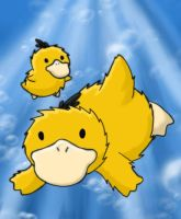 Psyduck and Duckling by chikadee34