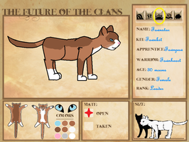 Future of the Clans - Fawnheart Ref Sheet by melfurny