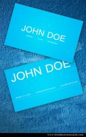 Blue Business Card by Freshbusinesscards