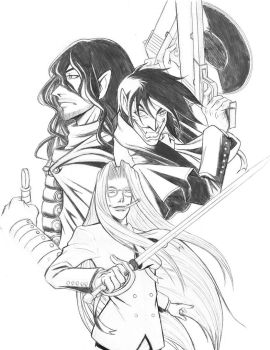 Integra and Alucard by Organized4chaos