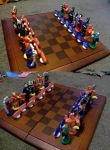 Dc vs. Marvel Chess Set 2 by AbstractAttic