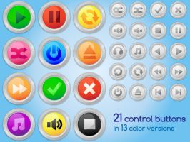 21 buttons, 13 colors by Anya82