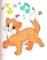 orange kitty and music by SpyroGirl22