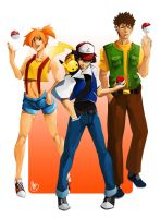 Pokemon - The Original Trio by charlestanart