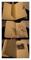moleskine work, 1-3 by clouded-ambition