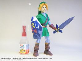 Papercraft Ocarina of Time adult/Menu Link by ninjatoespapercraft