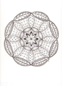 Hand Drawn Mandala 62414 by scootergirl762