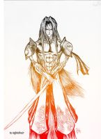 Night Sephiroth by CloudXtrife