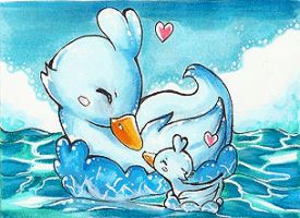 Mommy ducklett ACEO by PanXChi