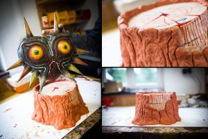 Majora's Mask - Wooden Replica (Stump Mount) by ThePropBox
