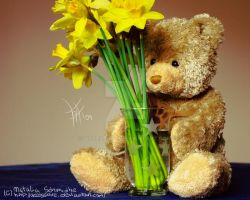 My teddy and his flowers by accessoire