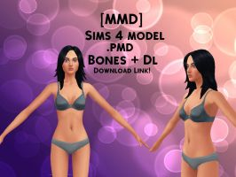 [MMD]Sims 4 Model + DL (NEW) by Queen-MMD