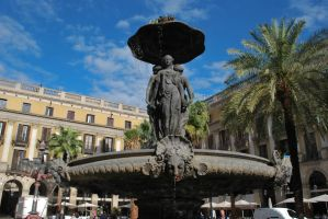 Fountain - Plaza Real by ReneHaan