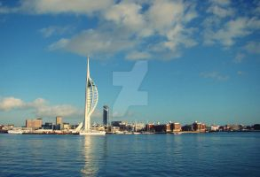 spinnaker tower by kretzolina