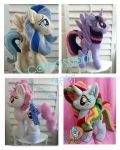 my little pony plush commissions open by CINNAMON-STITCH