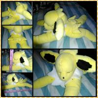 Pokemon - Sleeping Jolteon plushie Sale For Free by Misswd