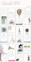 Calendar for 2012 Small gift by NoufMuslim