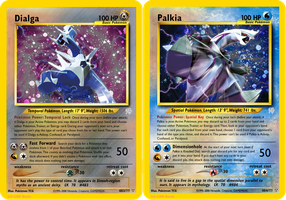 Neo Redux 483-484: DP Mascots, Dialga and Palkia by ILKCMP