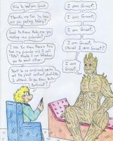 Dr Arnold and Groot by Jose-Ramiro