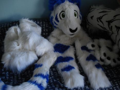My Complete Partial Blue Tiger Fursuit by LeoSandra85