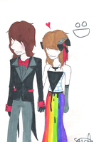 Me and Rog at Prom xDDD by electricsorbet
