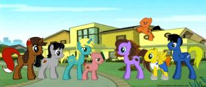 Drawn Together Gang, Ponified by Cartoon-Admirer