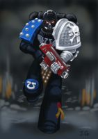Deathwatch Ultramarine by Shuggnuggath