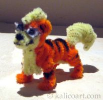 Growlithe Pipe Cleaners by kalicothekat