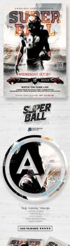 Super Ball Flyer Template by amorjesu