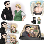 Aziraphale and Crowley doodles by ReverseAlchemist