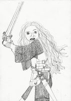 Lady Valiant uncolored by drumgirl
