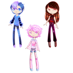 [1/3 OPEN] Random humans by ghosty-doll-adopts