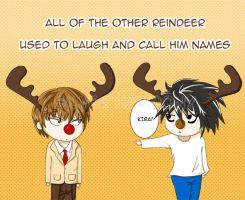 Raito the Red-Nosed Reindeer by eltania