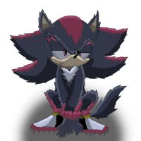 Shadow the werehog - dog pose by Shadoukun