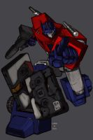 Griffith's Optimus Prime by DrewEiden