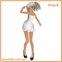 MMD Dress B - DL by FaiyeeMMD