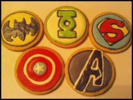 Superhero Cookies by TheMadCaker