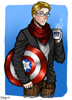 Hipster Captain Rogers by purrball31