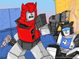 Transformers 30-3, Cliffjumper and Jazz by Demonology7789