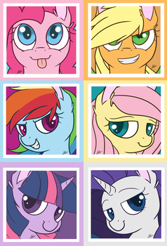 Mane 6 Poster by TheZealotNightmare