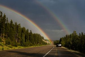 Double bow by orographic