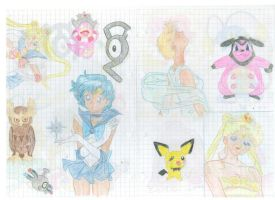 Pokemon two + Sailor Moon by Milli0104