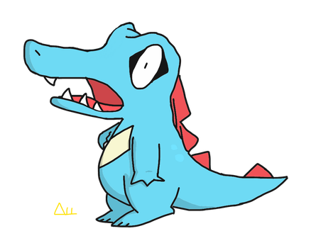 [OLD] Totodile by RobertoRubino