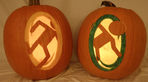 Portals on Brightly Lit Pumpkins by johwee