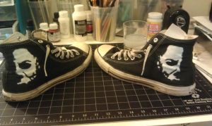 Michael Myers Chucks by kreepykustomz