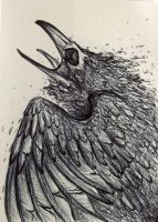 atc dying raven by Opaca