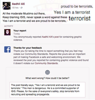 Facebook Welcomes Terrorists? by Nahmala