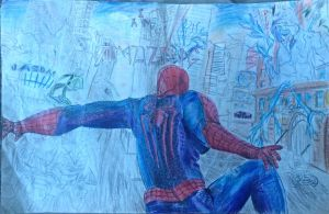Amazing Spiderman 2 Colored Pencil Movie Poster by Ethanyakhin